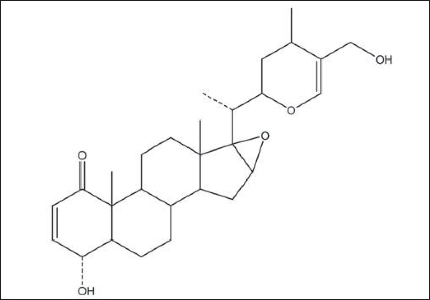 Figure 6: Chemical structure of compound 1 (physagulin V)