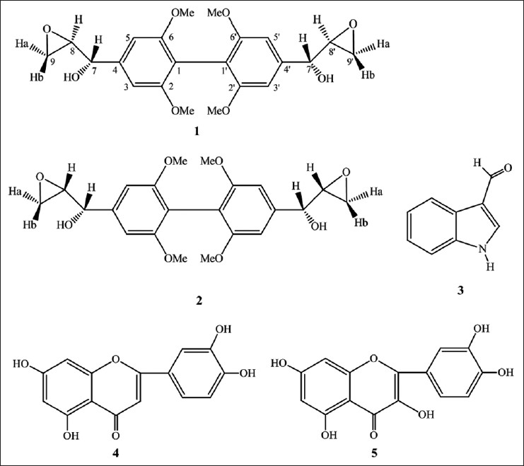 Figure 1: The structures of compounds 1-5