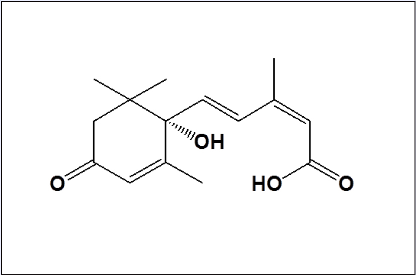 Figure 1: Chemical structure of abscisic acid isolated from Korean acacia honey