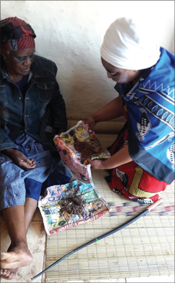 Figure 1: A patient in consultation with a traditional healer